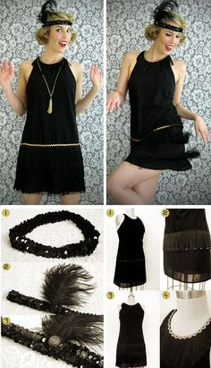 DIY Flapper Dress Costume   Click Pic for 22 Easy DIY Halloween Costumes for Women 2014   Last Minute Halloween Costumes for Women