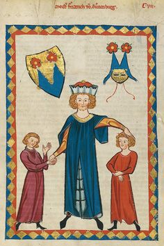 Codex Manesse, UB Heidelberg, Cod. Pal. germ. 848, fol. 407r, Friedrich von Sonnenburg
