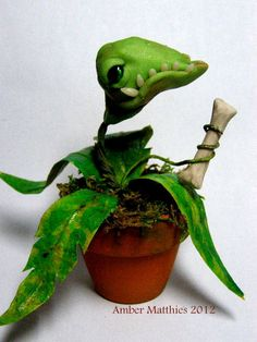 Monster Plant with a Bone