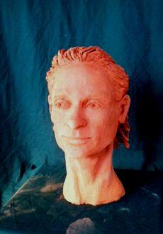 Jesiah clay bust