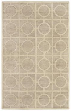 RugStudio presents Capel Morgan Hill-Rings 3399 Tan 650 Hand-Tufted, Best Quality Area Rug 5'x8' $673.00