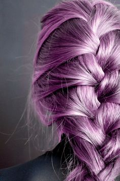 Someday I will have purple hair.  And since I'm turning grey, a lighter  hue might be better than the bold color I love.