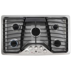 GE Profile PGP976SETSS 36 in. Gas Cooktop in Stainless Steel with 5 Burners including Power Boil Burner