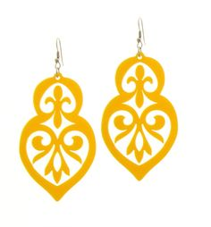Baronyka Long Yellow Anouk Earrings - Floral Earrings