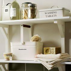 White utility room shelving | Decorating | housetohome.co.uk