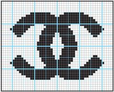 Image result for fuse beads chanel pattern