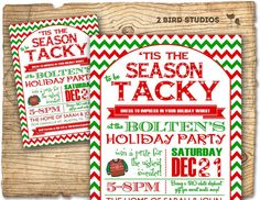 Christmas party invitation  Ugly Sweater party by 2birdstudios, $20.00