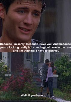 When he apologized in the rain and it was kind of corny but also amazing. | 23 Times Nathan And Haley Made You Believe In True Love