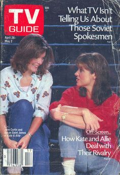 Kate and Allie (Jane Curtin and Susan Saint James) on the cover of TV Guide - April 26, 1986
