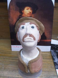 Irvington Community Middle School Art: Famous Artist Busts in Sculpey- A 7th grade L.A./Art History/Scupture project