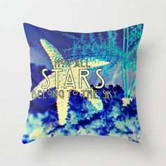 Decorative+Pillow++Starfish+Beach+House+by+VintageBeachQuotes,+$38.00