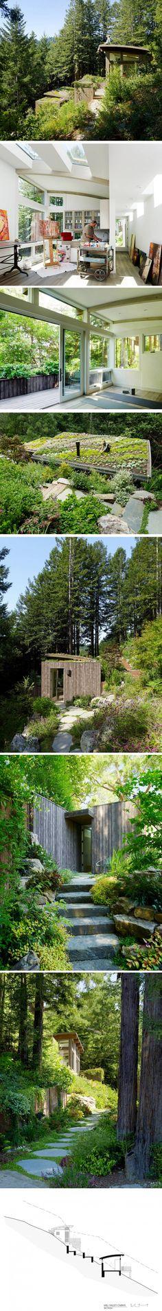 Mill Valley Cabins par Feldman Architecture