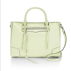 NWT Spring Rebecca Minkoff Tote Gorgeous spring colored Rebecca Minkoff tote in honeydew. Wear as a Crossbody or on your arm. Dazzled with silver hardware throughout. Bag comes with original dust bag and is still in protective wrapping. You will be the lucky first owner  Rebecca Minkoff Bags Totes