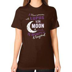 I LOVE SOMEONE lupus Unisex T-Shirt (on woman)