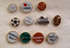 Floating Charms for Glass Lockets Sports by myheartsaKEs on Etsy, $3.00
