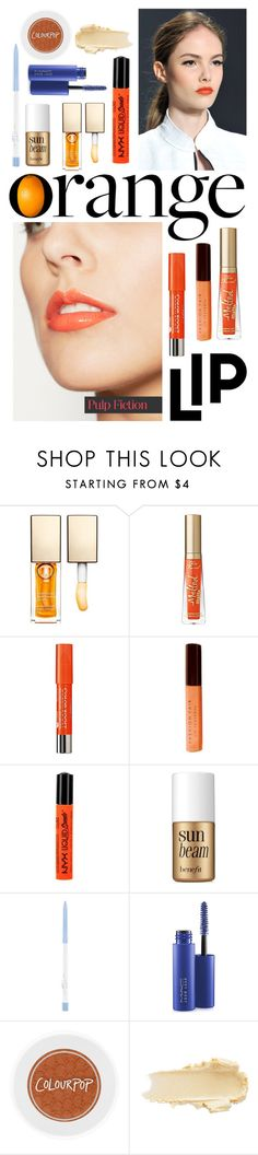 """""""Orange Lips"""" by florence2000 ❤ liked on Polyvore featuring beauty, Genetic Denim, Clarins, Too Faced Cosmetics, Bourjois, Fashion Fair, NYX, Benefit and MAC Cosmetics"""