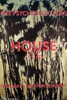 Psychedelic Furs 1989 House UK Original Jumbo Promo Poster #psychedelicfurs
