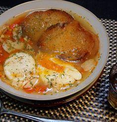 スペイン料理『ソパ・デ・アホ』簡単本格♪にんにくのスープレシピ♪