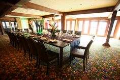 Fabulous space for a small-to-medium size wedding. Location: Stein Eriksen Lodge Flagstaff Room #steinweddings