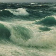 "David James (1853-1904) ~ ""Seascape, Stormbreakers"", 1892 (Détail)"