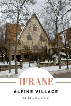 alpine village of Ifrane is unlike anywhere else in Morocco. If you love the beauty of the outdoors, Ifrane is a must! Visit Marrakech, Visit Morocco, Morocco Travel, Africa Travel, Alpine Village, Mountain Village, Morocco Destinations, Travel Destinations, Enjoy Your Vacation