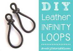 DIY Leather Infinity Links {VIDEO}   Jewelry Tutorial Headquarters   Bloglovin'