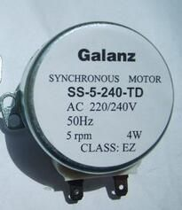 Microwave oven parts rotary plate Synchronous motor SS-5-240-TD 4W 5RPM
