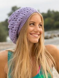 Free My Mountain Pattern Maui Hat: Say goodbye to boredom! It's time to pep up your beach and weekend wardrobe. For example with this stylish knitted hat in Schachenmayr original Catania Grande with its fine lacework pattern. It's really not difficult to knit..
