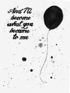 Black Balloon song and lyrics belong to The Goo Goo Dolls. Music Lyric Tattoos, Music Lyrics, Kinds Of Music, Music Is Life, Balloon Quotes, Lyrics On Canvas, Balloon Tattoo, Goo Goo Dolls, Beatles Songs