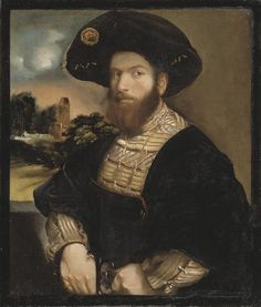 Portrait of a Man Wearing a Black Beret | Dosso Dossi | 1528/1532 | Nationalmuseum, Sweden | Public Domain Marked