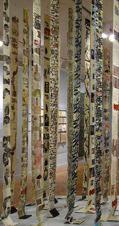 Book Installation Detail by Yeshiva University Museum Exhibitions, via Flickr una preciosa instalación!