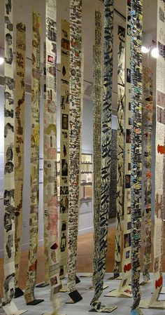 Book Installation Detail by Yeshiva University Museum Exhibitions