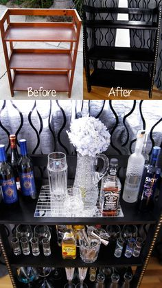 DIY: Turn Wood Shelves into a Chic Mini Bar | ...love Maegan