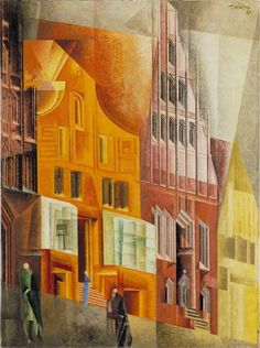 "Lyonel Feininger ""Giebel I, Luneburg"", 1925 (Germany, Cubism, 20th cent.)"