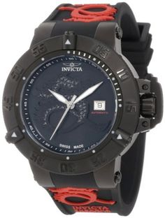 Invicta Men's 12857 Subaqua Noma III Automatic Diamond Accented Black Mother-Of-Pearl Dial Black Silicone Watch Invicta. $748.50. Precise 26 jewels Swiss automatic movement. Black mother of pearl dial with silver tone hands and black dragon emblem encrusted with 51 white diamonds; luminous; unidirectional black ion-plated stainless steel bezel; screw-down crown with protective clasp; exhibition case back. Water-resistant to 500 M (1640 feet). Date window at 3:00. Fl...