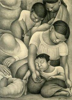 Sleep, 1932 Lithograph, Diego Rivera