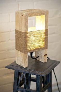 Pallet Lamp by UPitaly on Etsy