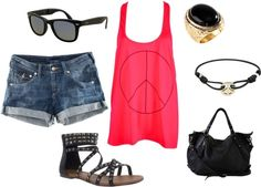 Peace of Summer, created by sarahtcole on Polyvore