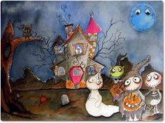 Print from Original illustration painting by SpookyHollow on Etsy, $17.00