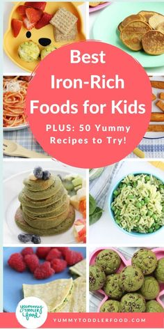kids nutrition Learn how to prevent iron deficiency and anemia with these iron-rich foods for babies, toddlers, and kids. Plus: The best iron-rich recipes for kids. Good Iron Foods, Foods With Iron, Foods High In Iron, Iron Rich Foods, Iron Rich Recipes, High Iron, Baby Smoothies, Toddler Smoothies, Smoothies For Kids