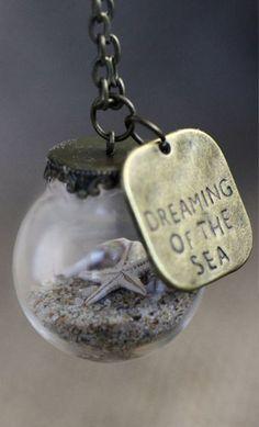 Miniature Beach necklace. Dreaming of the Sea. The Australian Coast. Seaside jewellery