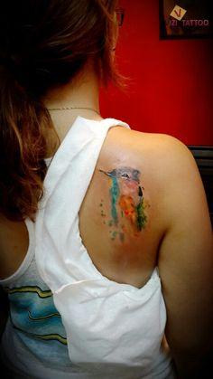 Watercolor tattoo. Vizi Tattoo. Vizi Tattoo ויזי קעקועים בירושלים. לקביעת תורים וברורים: 054-6964123.