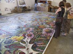 Mosaic Smalti Artists | Perdomo Smalti Mosaic Studio – Indianapolis Airport Project – Work ...