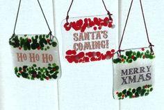 Christmas Fused Glass Hangers by Waci Glass
