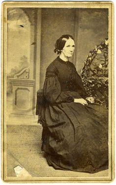 Carte De Visite, Mrs. Salley  I. Elloree in mourning, Auburn, New York  