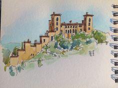 Tourrette #Sketch on location #ink & #watercolor (C) Fabrizio Lorito 2014