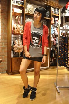 #fashionblogger #fashion #streetstyle #style #outfit #clothing #girl #streets #now #misfits #band #rocker #leather #wedges