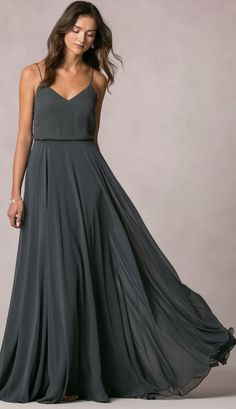 Inesse Dress by Jenny Yoo available in 27 chiffon colors | long bridesmaid dress