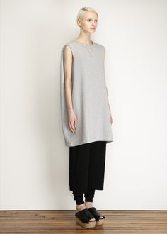 MM6 Maison Martin Margiela Caped Dress (Grey Melange)