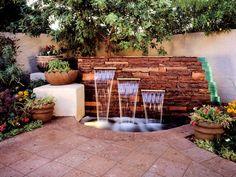 small garden waterfall ideas - Google Search
